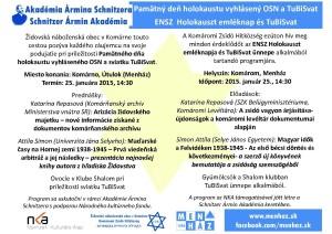 Pamätný deň holokaustu vyhlásený OSN a TuBiSvat