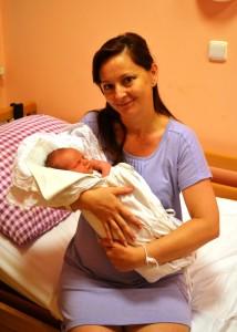 Foto 2 - mamička v komárňanskej pôrodnici