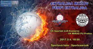 VK Spartak UJS Komárno – VK MIRAD PU Prešov