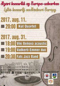 Letné koncerty na Nádvorí Európy / Nyári koncertek az Európa-udvarban