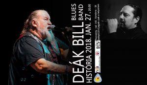 Deák Bill Blues Band es a História zenekar közös koncertje