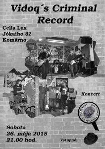 Koncert Vidoq´s Criminal Record