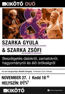 Beszélgetés Szarka Gyulával és Szarka Zsófival